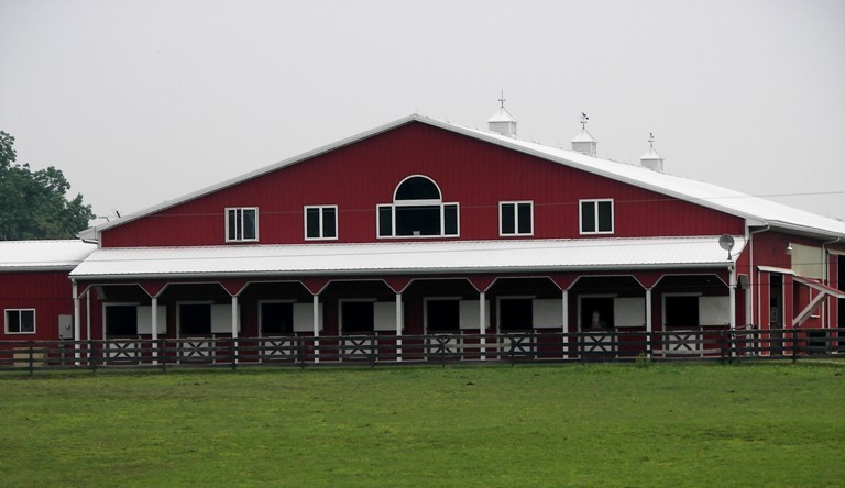 200 X 80 Equestrian Riding Arena With Upstairs Living Quarters Cinnabar Farms Perkasie PA